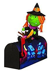 18″ Witch on the broom Magnetic Mailbox Cover