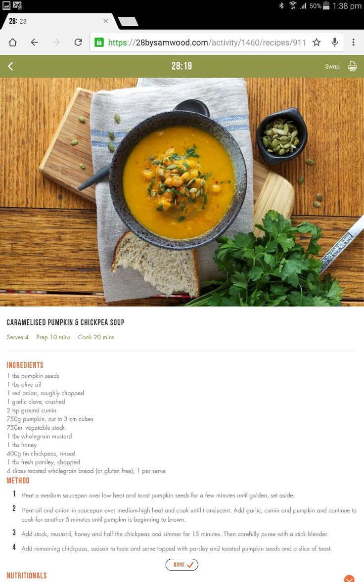 Pumpkin & chickpea soup