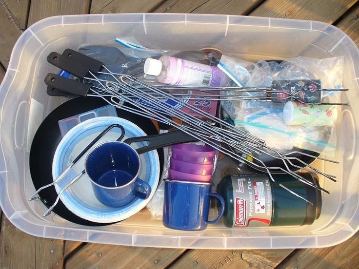 What Should You Put in Camping Bins?