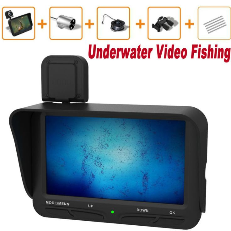 20M Cable Ice Finder Underwater Fishing Camera 6 IR Leds Cctv camera Video DVR 4.3 Inch monitor Dual Lens Support Memory Card