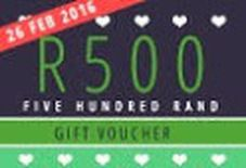 Win one of 5 gift vouchers worth R500 each (Voucher 5)