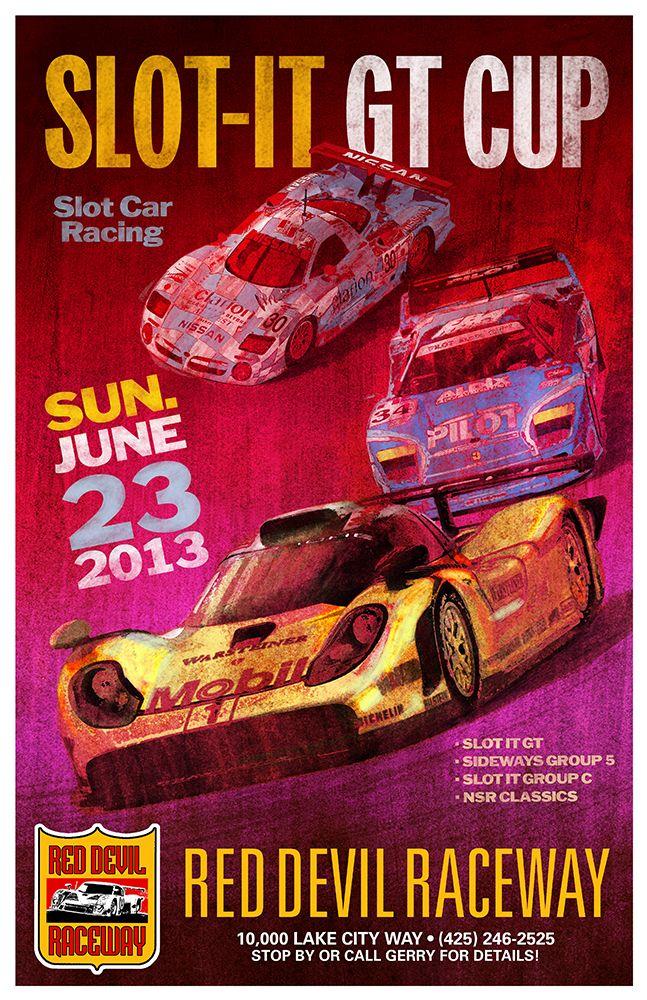 Grand Prix 1937 New York Sieg In USA Vintage Poster Print Car Racing Decor Art