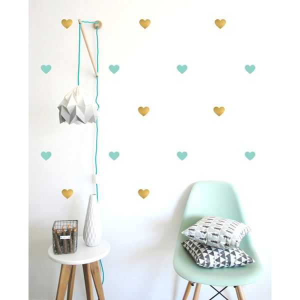 stickers d co vert mint stickers d coration pinterest stickers vert et coussin deco. Black Bedroom Furniture Sets. Home Design Ideas