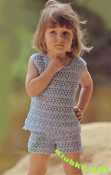 Вязаные крючком шорты для девочки