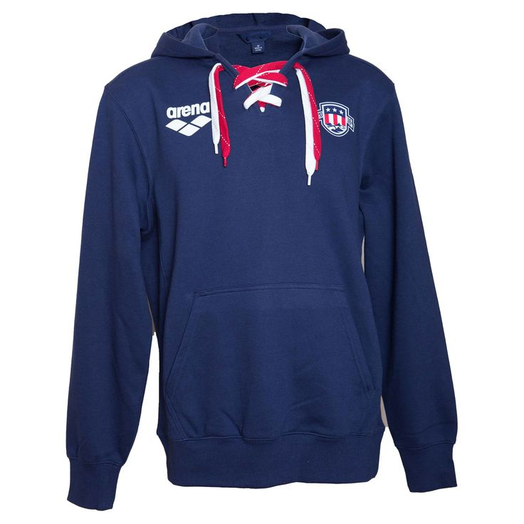 USA Swimming Authentic Team Laceup Hoodie Show your USA Pride with arena's officially licensed LIMITED EDITION USA Swimming apparel. Featuring oversize