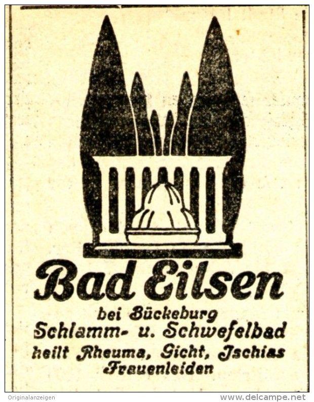 Original-Werbung/Anzeige 1934 - BAD EILSEN - ca. 45 x 60 mm