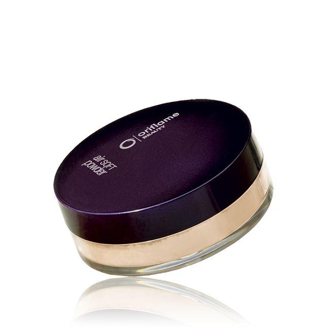 Sypký pudr Air Soft Oriflame Beauty oriflame - moooc chválený,splnuje vše :  je sypký, má houbičku, je transparentní .