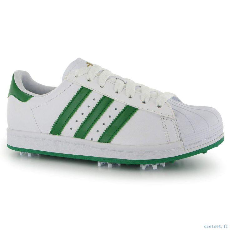 Adidas Superstar Chaussures de golf blanc / vert 283021