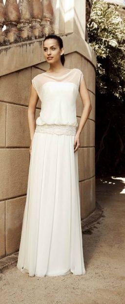 Robe de mariée style bohème chic | Happy Chantilly
