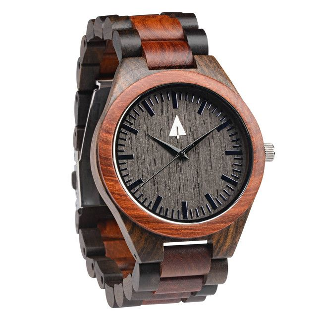 Tree Hut All Wooden Watch | Ebony + Walnut