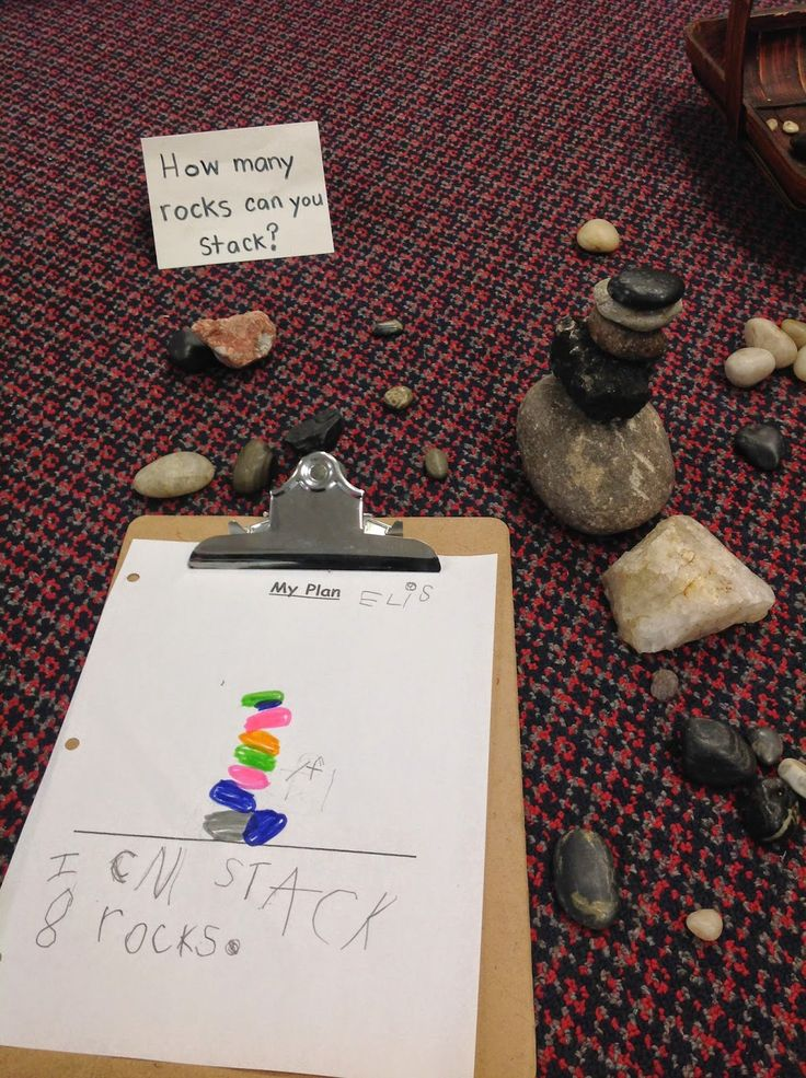 How many rocks can you stack? http://www.wondersinkindergarten.blogspot.ca/2014/05/a-glimpse-at-our-current-learning.html
