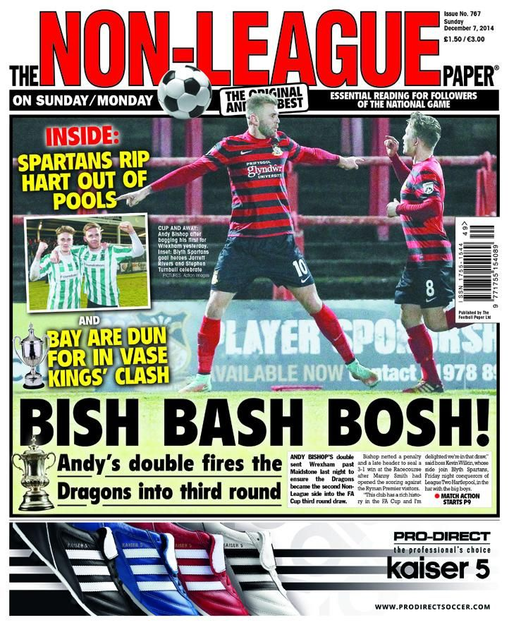 Paper put to bed for another week! @Wrexham_AFC & @Blyth_Spartans make the front for wins in the #FACup #nonleague