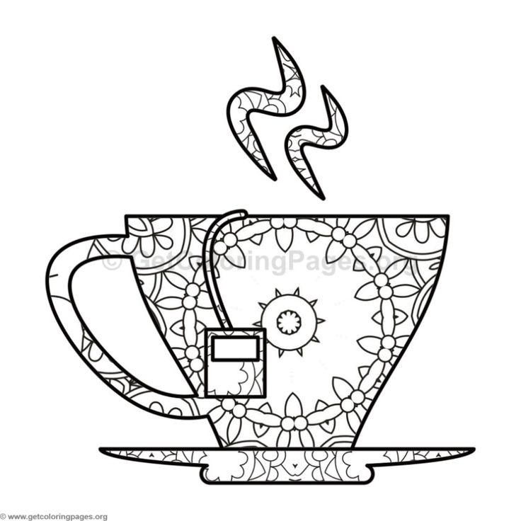 coloring pages teacup - photo#33