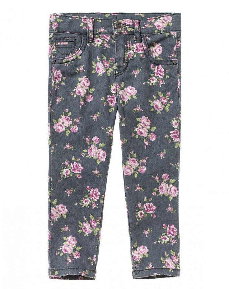 Pantaloni con fiori all over
