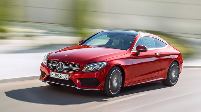 Front view of the new Mercedes-Benz C-Class Coupé.