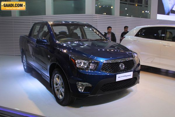 SsangYong ACTYON SPORTS   The pick-up segment in India has not taken off despite some manufacturers trying hard. Thde problem is that all the pick-ups that are sold in india are too utilitarian in nature. The comfort offered by them were not up to the mark and pick-ups must be marketed as lifestyle products.The all new Actyon Sports promises to change all that. Its a popular pick-up in Ssang Yong range and will come to India badged as Mahindra.