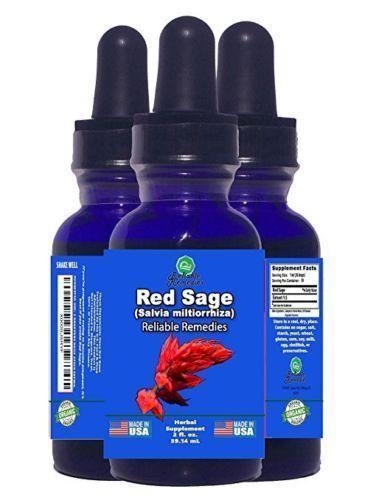 2 OUNCE! - RED SAGE (SALVIA MILTIORRHIZA) BY NATURAL RELIEFS! #RedSage
