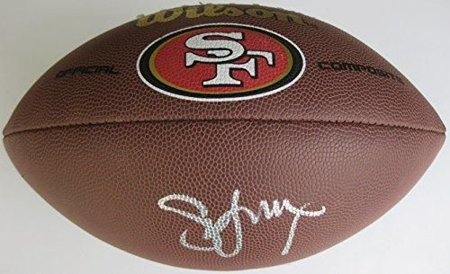 Steve Young, San Francisco 49ers, Signed, Autographed, 49ers Logo Football, a COA with the Proof Photo of Steve Signing Will Be Included