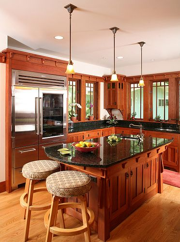 Craftsman kitchen island -- Bethesda Bungalows