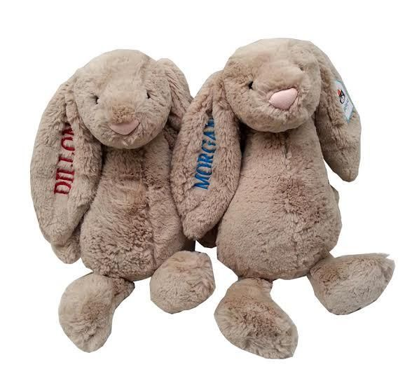 74 best baby gifts for twins images on pinterest baby gifts baby personalized twin gift bashful beige bunny jellycats negle Choice Image
