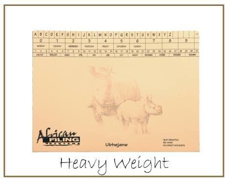 Heavy Weight Files - Rhino (Ubhejane) - AFHWF400 - capacity 400 sheets.