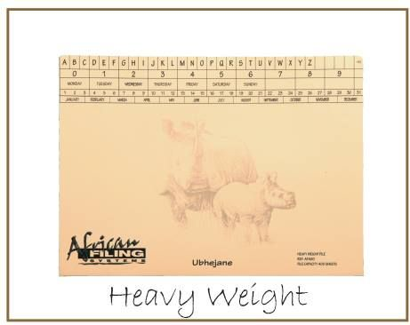 Heavy Weight Files - Rhino (Ubhejane) - AFHWF400 - capacity 400 sheets.