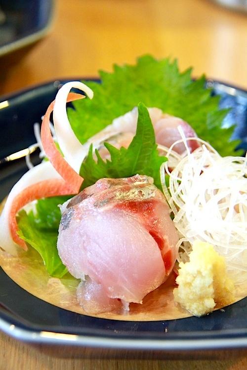 Sashimi of the Saurel(Aji-Sashimi)