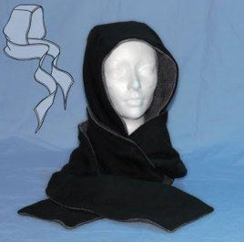Free pattern: Sew a scoodie (scarf with a hood)