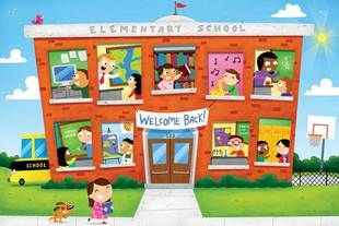 Welcome Back to School. Illustration by Kyle Poling, represented by Liz Sanders Agency. lizsanders.com