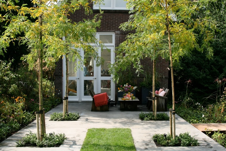 17 best images about inspiratie tuinidee n on pinterest gardens outdoor living and backyards - Tuin exterieur ontwerp ...