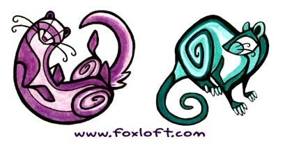 This is the style of animal totem tattoo I want--art nouveau