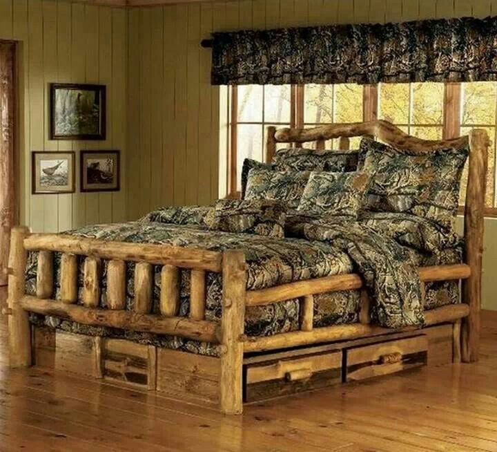 gorgeous log fram bed and camo comforter 25 best images about cool camo furniture on