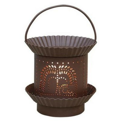 Rusty Willow Electric Tart Warmer - Our Rusty Willow Electric Tart Warmer has a painted sheet metal base with fluted pan details and a heavy gauge wire handle. You will love the grainy matte rust-colored paint finish.