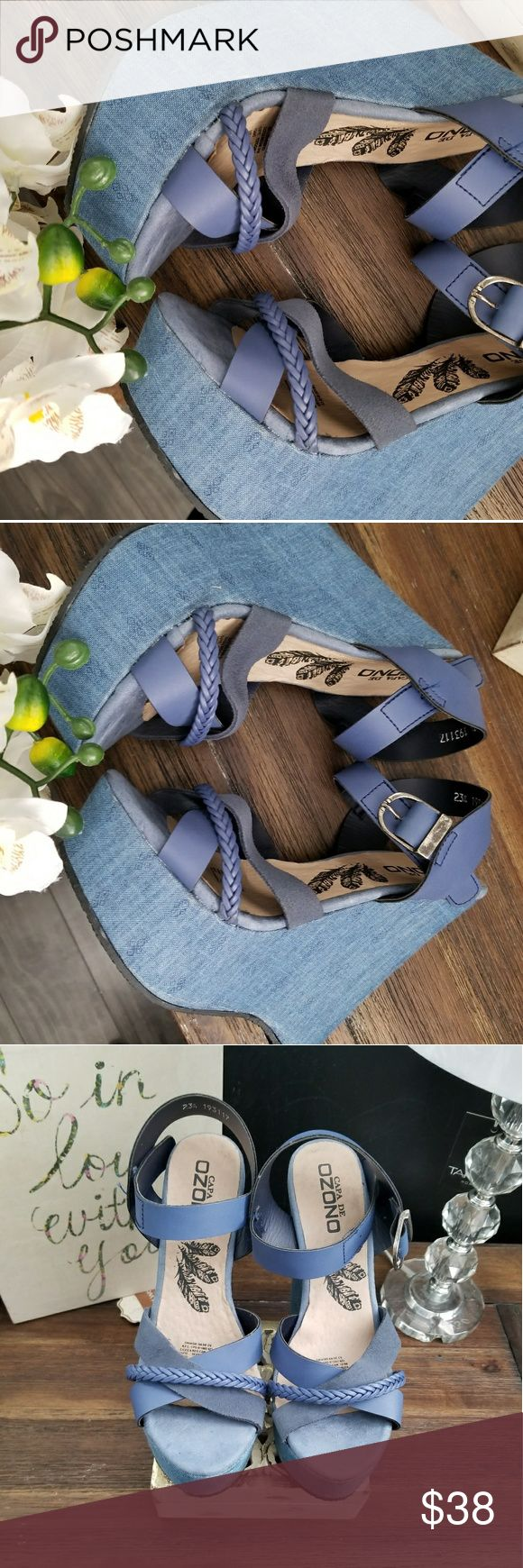 Blue jeans wedges Blue 6 1/2 Very comfortable BRAND NEW  Never worn   Capa de ozono Shoes Wedges