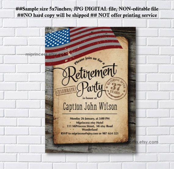 En iyi 17 fikir Military Retirement Parties Pinterestte – Military Retirement Party Invitations
