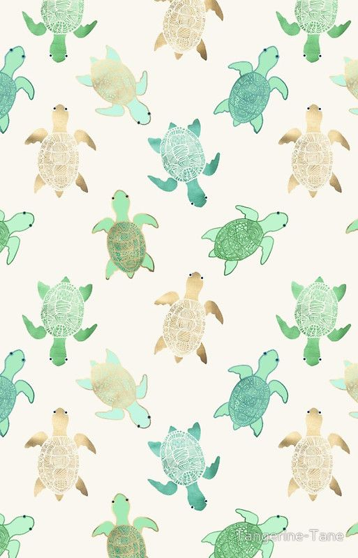 Cute Iphone Wallpaper Ideas Gilded Jade Amp Mint Turtles Iphone Case By Tangerine Tane