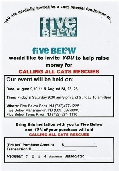 Please support the rescue & our efforts at the Five Below Fund Raising Event: Support, Raising Events, Stuff, Five Below, Rescue