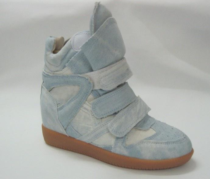 Isabel Marant Bekket High-top Suede blue jean Sneakers