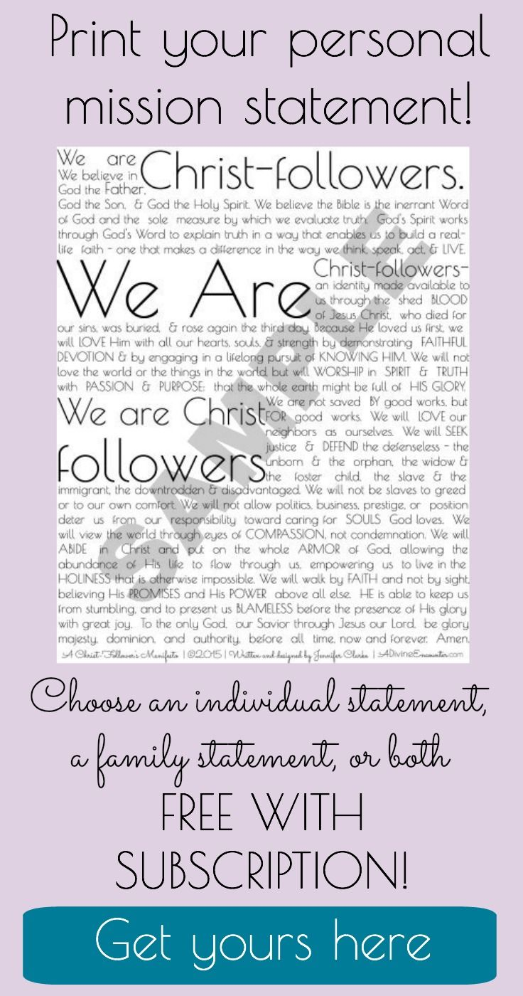 Personal statement of faith