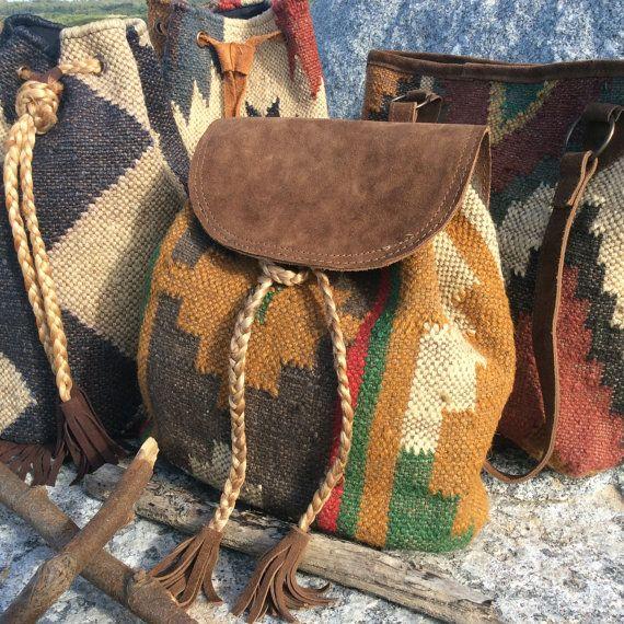 Kilim+backpack+kilim+bag+tapestry+backpack+tapestry+bag+by+pasaje