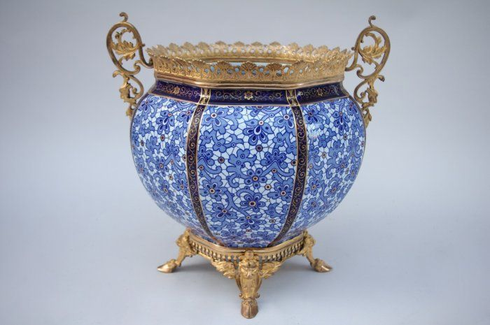 French faience covered pot circa 1880 - Jean-Luc Ferrand Antiquités