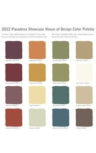 Old California and Spanish Revival Style Pasadena Showcase House 2012 Spanish Colonial Revival Color Palette                                                                                                                                                      More