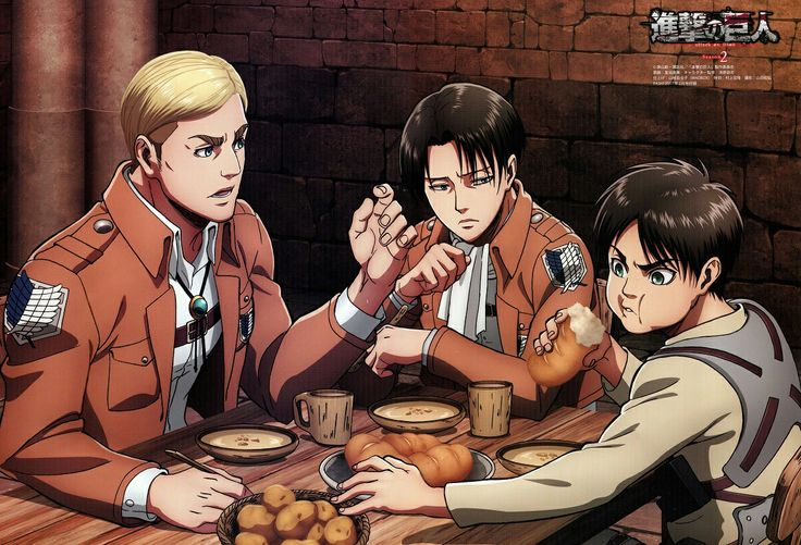 Erwin Smith, Eren Jaeger and Levi Ackerman