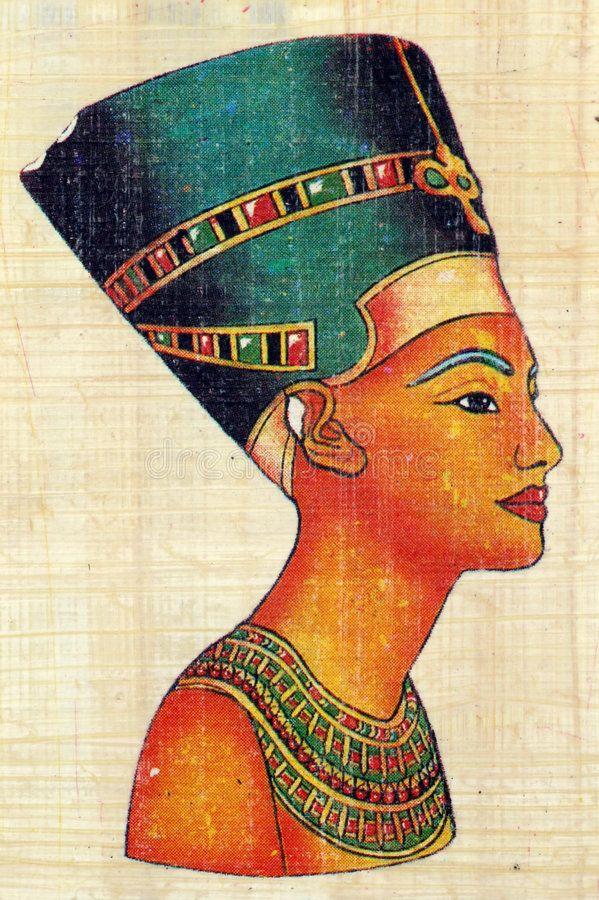 Queen Nefertiti On Papyrus Queen Nefertiti On Egyptian Papyrus Aff Nefertiti Queen Egyptian Papyrus Nefertiti Egyptian Art Ancient Egypt Pharaohs