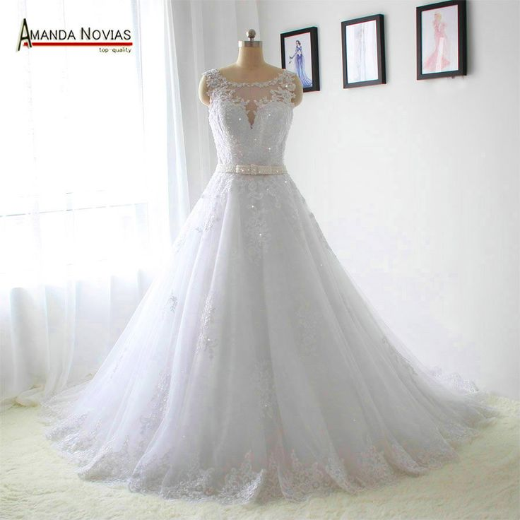 Glitter riem trouwjurk