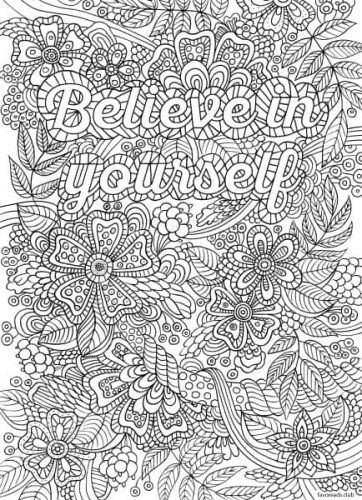 Believe In Yourself Most Popular Coloring Pages
