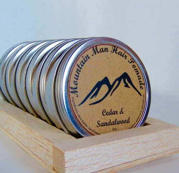 Mountain Man Hair Pomade is an all natural mens hair styling wax for the rugged individual. Pure cedar and sandalwood essential oils combined with