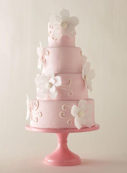 Blush-pink cake #weddings #weddingcake