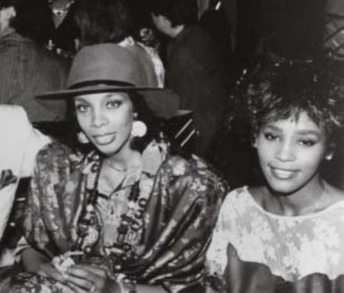 Donna Summer and Whitney Houston I think I have a new favorite picture.