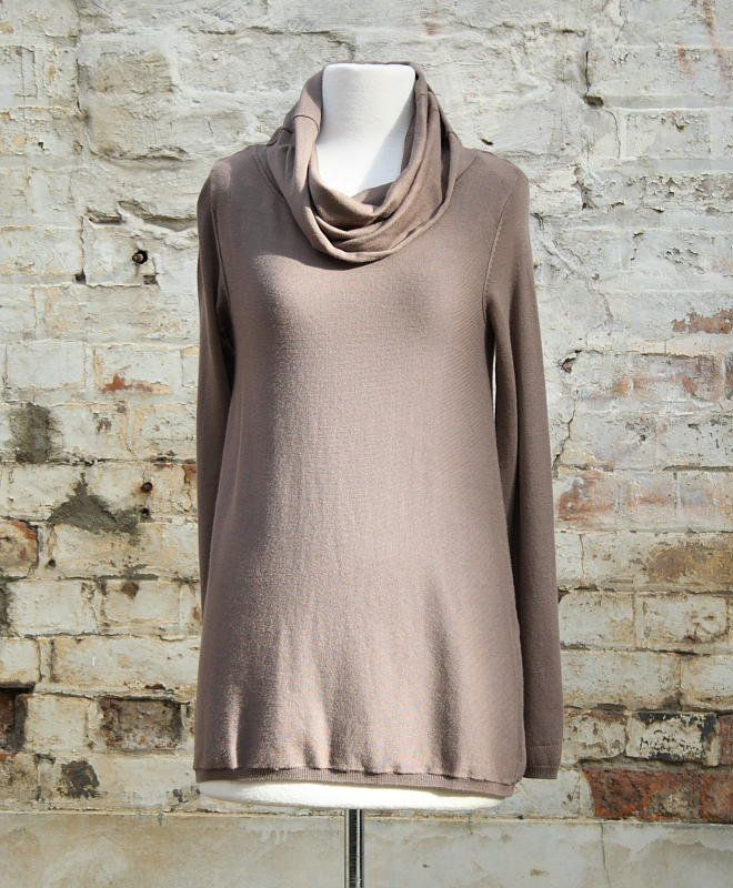 Cowl A-line Jumper in Latte | Women's Fashion | Dresses, Tops and more | Et La Mer